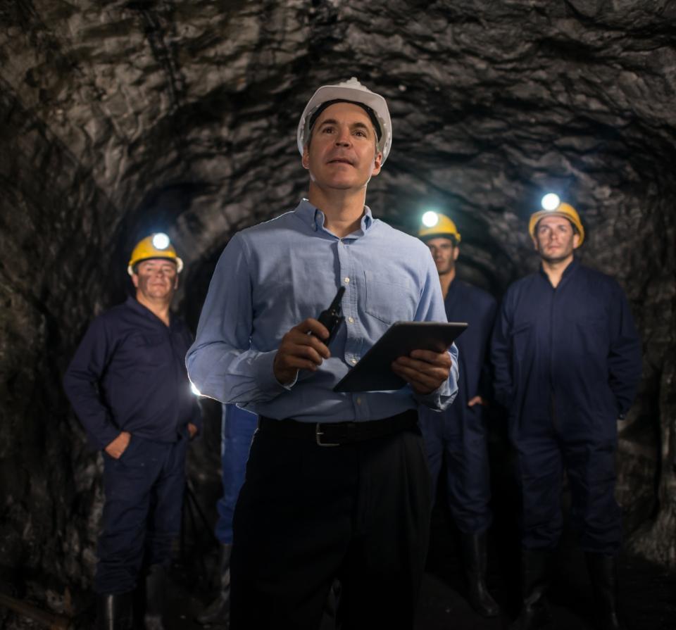 inspektor ipracownicy kopalni